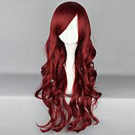 muoti sarjakuva tummanpunainen tukka peruukki
