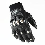 Teljes ujj Bőr Bőr Motorkerékpár kesztyűk