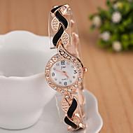 yoonheel Damers Modeklocka Armbandsur Armbandsklocka Simulerad Diamant Klocka Quartz Diamant Imitation Metall Band Glittriga Eleganta