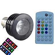 SchöneColors® Lâmpada de Foco Regulável / Ativada Por Som / Controle Remoto / Decorativa B22 4 W LM K RGB / Muda de Cor 1LED de Alta