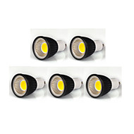 7W GU10 Focos LED MR16 1 COB 600 lm Blanco Cálido / Blanco Fresco / Blanco Natural Regulable AC 100-240 / AC 110-130 V 5 piezas