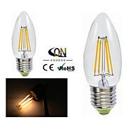 2 piezas ONDENN E26/E27 4 COB 400 LM Blanco Cálido A60(A19) edison Cosecha Bombillas de Filamento LED AC 100-240 / AC 110-130 V