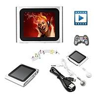 8GB Mp3 Mp4 6th Gen LCD Touch Screen FM Radio Player Slim Video Games Movie