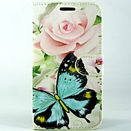 Rose butterfly PU Leather Full Body Wallet Protective Case with Stand and Card Slot For Huawei Ascend G620s