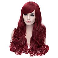 Euroopan ja Amerikan muoti punainen taipuvainen Bang tukka peruukki