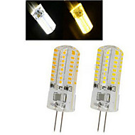 6W G4 Żarówki punktowe LED 64LED SMD 3014 450-600 lm Ciepła biel / Zimna biel AC 220-240 V 1 sztuka