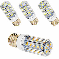 5 pcs ding yao E27 18W 56X SMD 5730 1000-1200LM 2700-3500/6500-7500K Warm White/Cool White Corn Bulbs AC 220V
