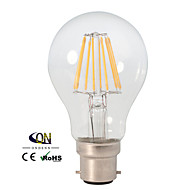 1 Stück ONDENN Dimmbar LED-Glühlampen A B22 8 W 800 LM 2800-3200K K 8 COB Warmes Weiß AC 220-240/AC 110-130 V