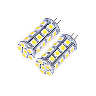 1 pcs G4 10W 30X SMD 5050 600LM 2800-3500/6000-6500K Warm White/Cool White Bi-pin Lights DC 12V