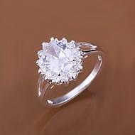 Γυναικεία Εντυπωσιακά Δαχτυλίδια κοσμήματα πολυτελείας κοστούμι κοστουμιών Ζιρκονίτης Cubic Zirconia Επάργυρο Κοσμήματα Για Γάμου Πάρτι