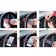 Colorful Universal Car Steering Wheel Mobile Phone Holder for iPhone and Others(Assorted Colors)