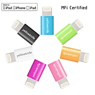 MFi Certified Micro USB to Lightning Data Sync Charger for iphone 7 6s 6 Plus SE 5s 5/ipad(2cm)