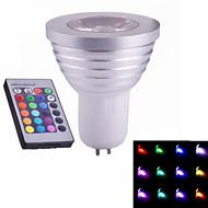1 stk. ding yao GU5.3 3 W 1 Højeffekts-LED 60-320 LM RGB Spotlys AC 85-265 V