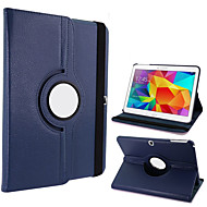 """360-Degree Rotating Faux Leather & TPU Rubber Stand Protective Case for Samsung Galaxy Tab 4 T530 4.0"""" Tablet PC (Assorted Colors)"""