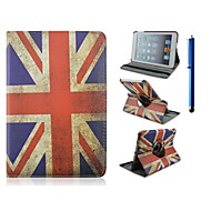 7.9 Inch 360 Degree Rotation Flag Pattern PU Leather Case with Stand and Pen for iPad mini 1/2/3