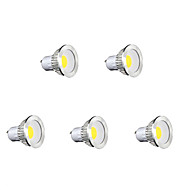 5W GU10 Focos LED MR16 1 COB 450 lm Blanco Cálido / Blanco Fresco / Blanco Natural AC 85-265 V 5 piezas