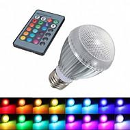 Ampoules LED Intelligentes Commandée à Distance RGB 1 pièce E26/E27 9 W 1 LED Haute Puissance 180 LM AC 85-265 V