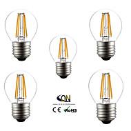 5個 ONDENN E26/E27 4 W 4 COB 400 LM 温白色 A LEDフィラメントランプ 交流220から240/AC 110-130 V