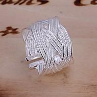 Gyűrűk Esküvő / Parti / Napi / Hétköznapi Ékszerek Ezüstözött Női Vallomás gyűrűk 1db,Állítható Ezüst