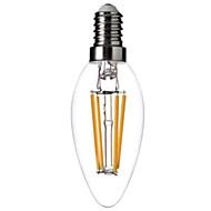 E14 - 4 W- C - Stearinlys Pærer (Warm White , Dekorativ) 400LM lm- AC 220-240