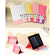 LEIERS® Lovely 3D Domi Cat II Magnetic Flip Leather Cover Wallet Card Slot Case Stand for iPad 5/Air (Assorted Colors)