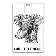 usb flash drive personalizado flash drive 16gb elefante design de cartão usb