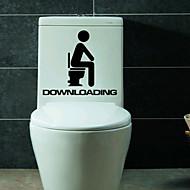 1pc δημιουργική προσωπικότητα στο σπίτι επίπλωση τα αυτοκόλλητα τουαλέτα