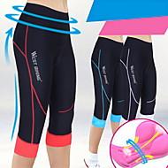 VEOBIKE Femme Printemps/Eté Cycling Corsaire 3/4 CollantsRespirable/Séchage rapide/mèche/Compression/La peau 3 densités/Limite les