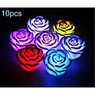 10pcs morsen® 0.5W steg lampe nattlys ((tilfeldig farge)