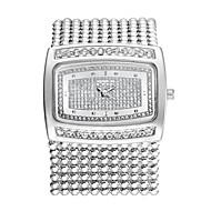 Mode Luxus Kristallrhinestonemessingkette Band Damen der Frauen-Handgelenk-Quarz-Armband gekleidet Armbanduhr