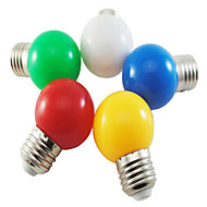 5pcs HRY® 1W E27 5XSMD2835 350LM Color Ball Bubble lamp LED Light Bulbs(Random Color)