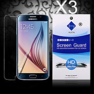 HD Screen Protector with Dust-Absorber for Samsung Galaxy S6 edge   (3 PCS)