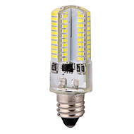 YWXLIGHT Dimmable E11 6W 80x3014SMD 600LM 2800-3200K/6000-6500K Warm White/Cool White Light LED Corn Bulb (AC 110-130V)