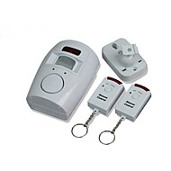 IR Detector Alarm Motion Sensor Alertor for Home Office Shop Warehouse White