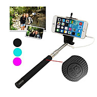 Best Selling Cable Take Pole Extendable Selfie Handheld Monopod Stick Holder for iPhone 5/5S/6/6 Plus (Assorted Colors)