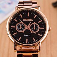 Couple's Round Dial Case Alloy Watch Brand Fashion Quartz Watch