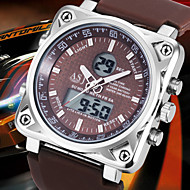 NEW Arrive 3ATM Waterproof Mens Sport Wirst Quartz Digtal Watch Rubber Square Dual Time Chronograph Alarm Wrist Watch Cool Watch Unique Watch