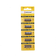 COMSAN  5PCS 23A 12V Alkaline Battery for Wireless Doorbell / Remote Control /Alarm