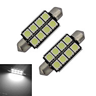 Lampe de Décoration Blanc Froid 2 pièces Festoon 1.5 W 8 SMD 5050 150-170LM LM DC 12 V