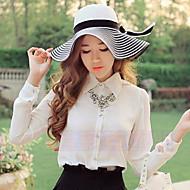 Straw Hat - Dla kobiet - Na co dzień - Lato - Słomka