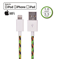 HXINH Nylon braided MFi Lightning to USB 2.0 Charger & SYNC Cable, for iphone5 6,iPad Air,iPad mini, Nano 7, Touch 5 ,1M