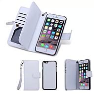 6プラス6S iphone用スタンド付きの特別な設計、高品質本革財布ケースフルボディケース