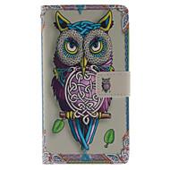 For Samsung Galaxy Note Pung Kortholder Med stativ Flip Etui Heldækkende Etui Ugle Kunstlæder for Samsung Note 3