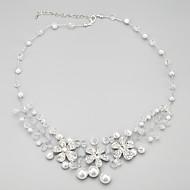 Κολιέ Vintage Κολιέ / Coliere cu Perle Κοσμήματα Καθημερινά Μοντέρνα Μαργαριτάρι / Κράμα / Απομίμηση Μαργαριταριού Transparent 1set Δώρο