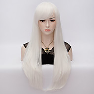 70cm Style Natural Straight Fashion Women Party Wigs Heat Resist Synhtetic Cosplay costume Wig White