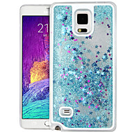 High Quality Quicksand Star Glitter PC Hard Case for Samsung Galaxy Note 4