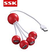 ssk® usb 2.0 4-port hub usb de alta velocidade USB 2.0 hub