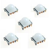 5pcs hc-SR501 infrarood menselijk lichaam inductie module pyroelectric infrarood sensor probe voor Arduino