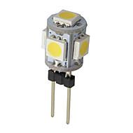 1W G4 Luci LED Bi-pin 5 SMD 5050 50-100 lm Bianco caldo / Luce fredda AC 12 V 1 pezzo