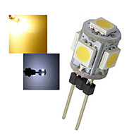1 pcs Ding Yao G4 1W 5X SMD 5050 50-100LM 2800-3500/6000-6500K Warm White/Cool White Bi-pin Lights AC 12V